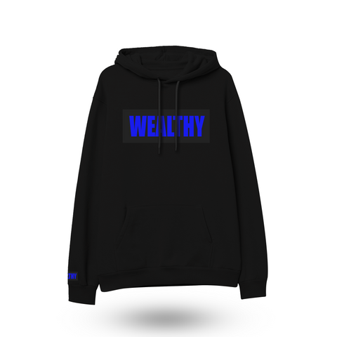 Wealthy Hoodie (Black/Black/Royal Blue)