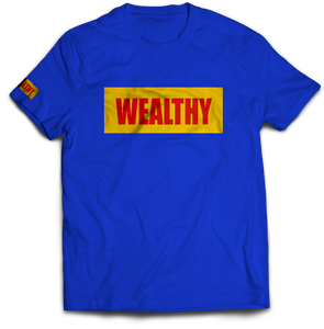 Wealthy Tee (Blue/Yellow/Red)