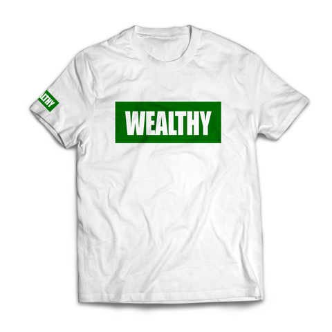 Wealthy Tee (White/Green)