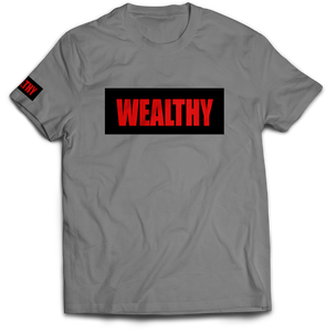 Wealthy Tee (Grey/Black/Red)