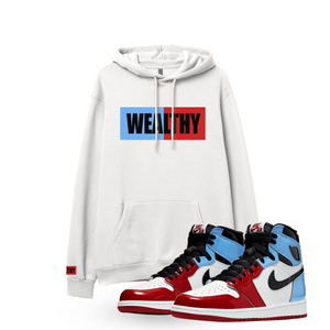 Wealthy Hoodie (White/Baby Blue/Red/Black)