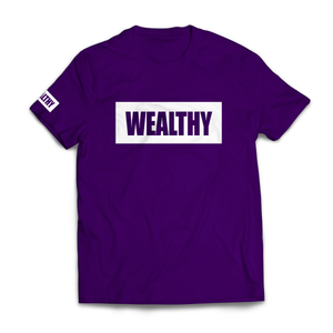 Wealthy Tee (Purple/White)