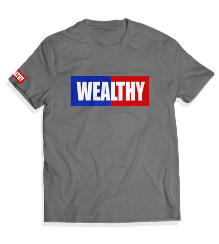 Wealthy Tee (Grey/Blue/Red/White)
