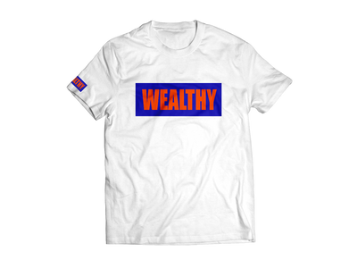 Wealthy Tee (White/Blue/Orange)