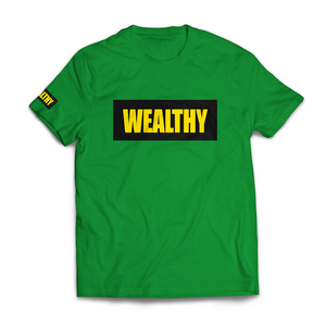 Wealthy Tee (Green/Black/Yellow)