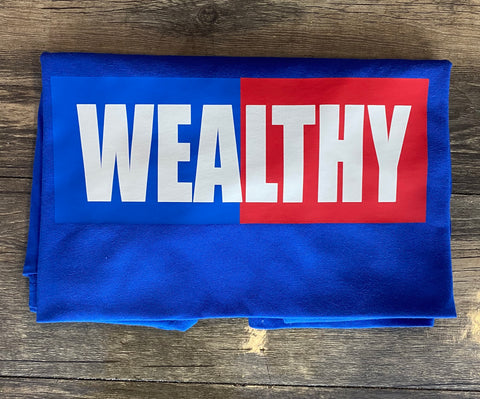Wealthy Tee (Blue/Blue/Red/White)