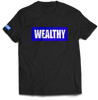 Wealthy Tee (Black/Royal/White)