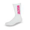 Wealthy Socks (White/Hot Pink)
