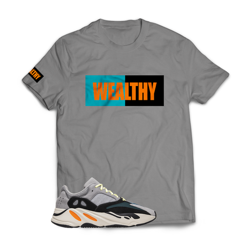 Wealthy Tee (Grey/Teal/Black/Orange)