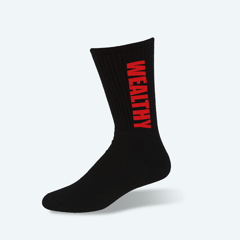 Wealthy Socks (Black/Red)