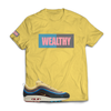 Wealthy Tee (Yellow/Baby Blue/Grey/Light Pink)