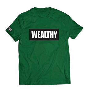 Wealthy Tee (Green/Black/White)