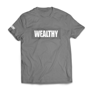 Wealthy Tee (Grey/Grey/White)