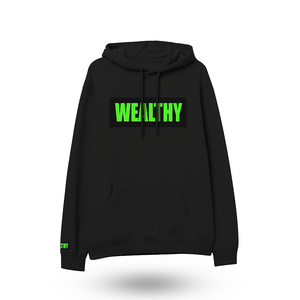 Wealthy Hoodie (Black/Black/Neon Green)
