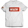 Wealthy Tee (White/Red)