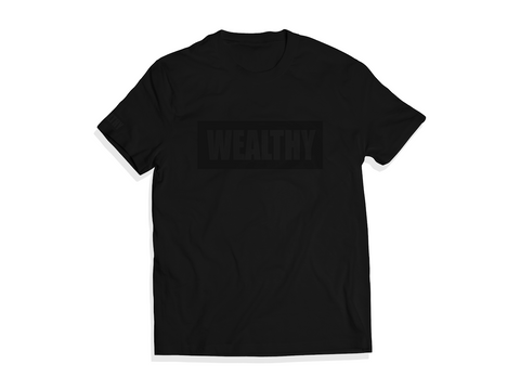 Wealthy Tee (Black On Black)