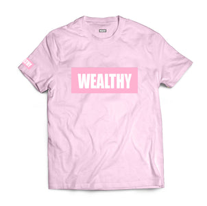 Wealthy Tee (Pink/Pink/White)