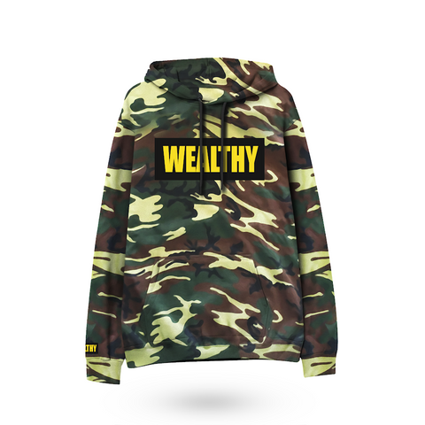 Wealthy Hoodie (Camo/Black/Yellow)