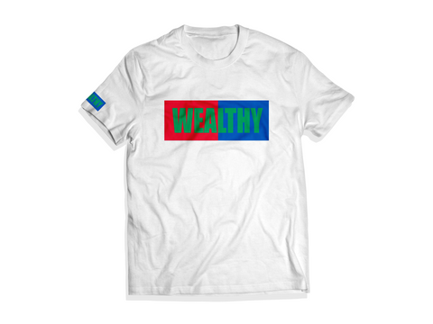 Wealthy Tee (White/Red/Blue/Green)
