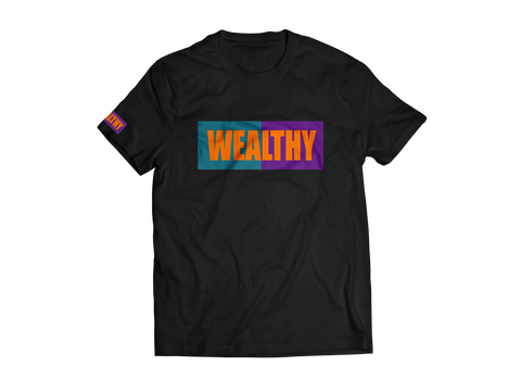 Wealthy Tee (Black/Teal/Purple/Orange)
