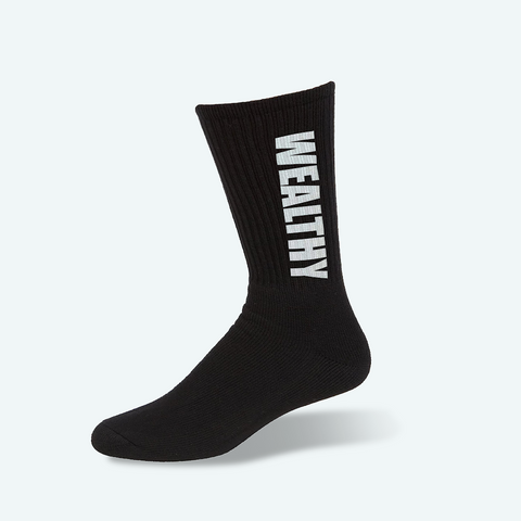 Wealthy Socks (Black/White)