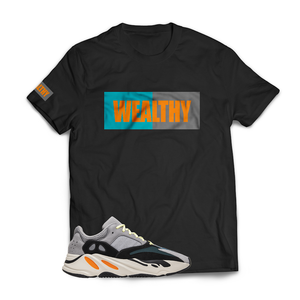 Wealthy Tee (Black/Teal/Grey/Orange)