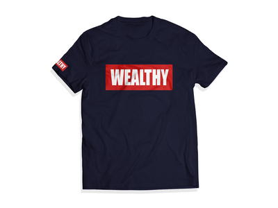 Wealthy Tee (Navy/Red/White)