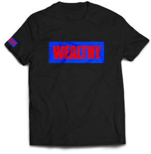 Wealthy Tee (Black/Royal/Red)