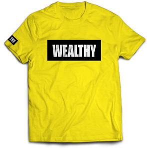 Wealthy Tee (Yellow/Black/White)