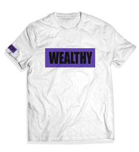 Wealthy Tee (White/Purple/Black)