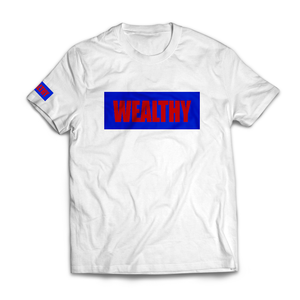 Wealthy Tee (White/Blue/Red)