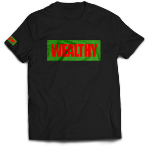 Wealthy Tee (Black/Green/Red)