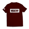 Wealthy Tee (Maroon/White)