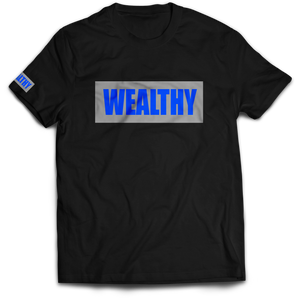 Wealthy Tee (Black/Grey/Royal)