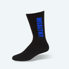 Wealthy Socks (Black/Blue)
