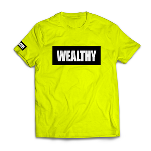 Wealthy Tee (Neon Yellow/Black/White)