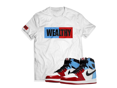 Wealthy Tee (White/Baby Blue/Red/Black)