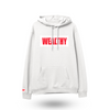 Wealthy Hoodie (White/White/Red)