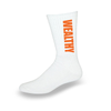 Wealthy Socks (White/Orange)