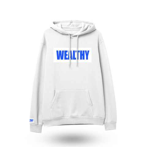 Wealthy Hoodie (White/White/Royal Blue)