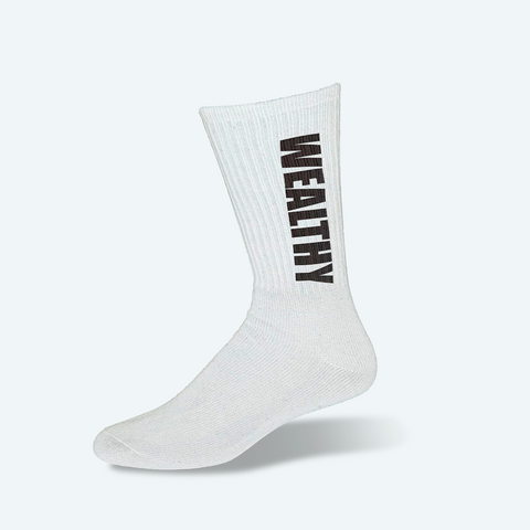 Wealthy Socks (White/Black)