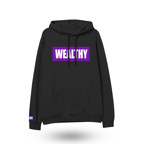 Wealthy Hoodie (Black/Purple/White)