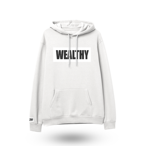 Wealthy Hoodie (White/White/Black)