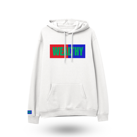 Wealthy Hoodie (White/Red/Blue/Green)