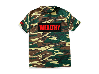 Wealthy Tee (Camo/Black/Red)