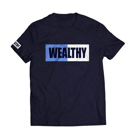 Wealthy Tee (Navy/Baby Blue/White/Navy)
