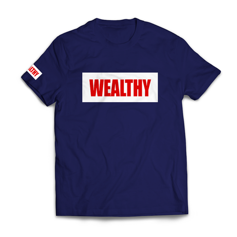 Wealthy Tee (Navy/White/Red)