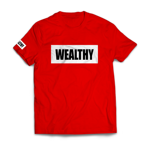 Wealthy Tee (Red/White/Black)
