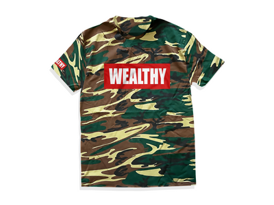 Wealthy Tee (Camo/Red/White)