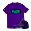 Wealthy Tee (Purple/Black/Teal)